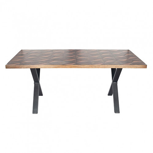 Pacific recycled wood metal mix dining table