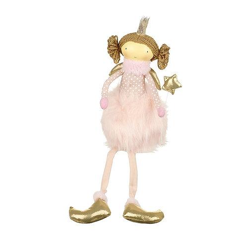 Sitting Angel In Fluffy Pink Skirt