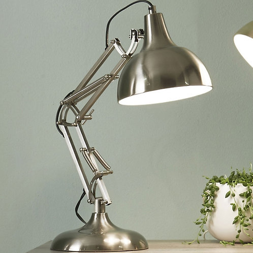 Pacific brushed chrome task table lamp