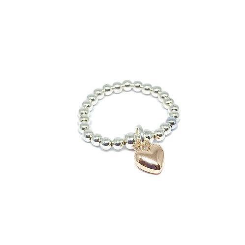Rachel Heart Ring - Rose gold