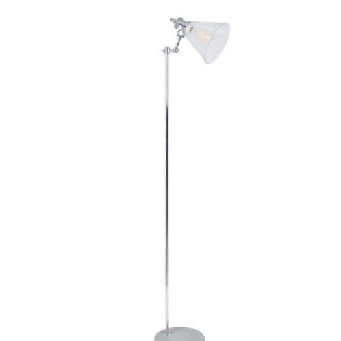 Chaplin concrete & brushed chrome floor lamp