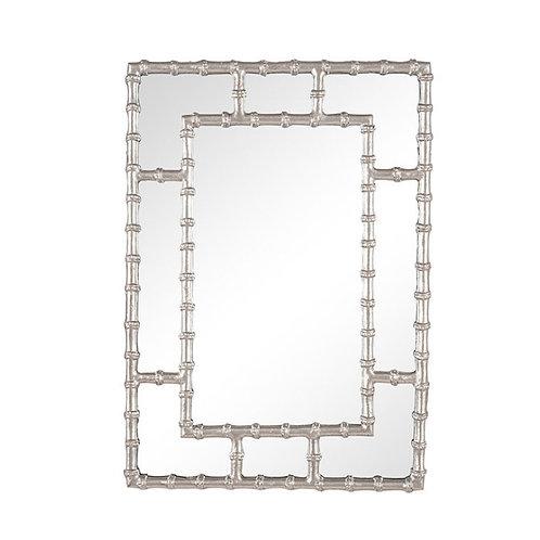 Pacific Bamboo rectangular wall mirror silver