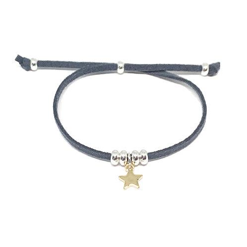 Helena Star Charcoal Bracelet - Gold