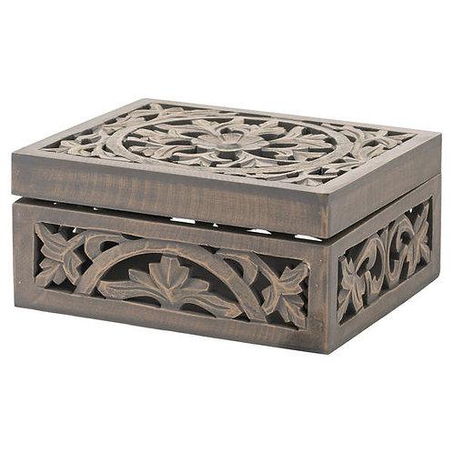 Carved grey wash box