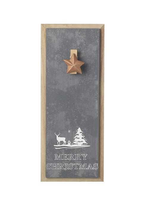 Christmas star clip wall hanging