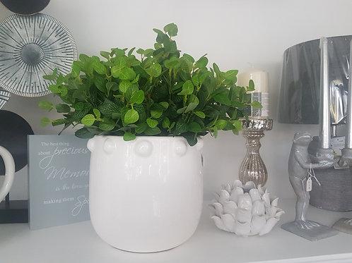 Large white bobble pot