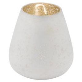 Large white mercury candle holder