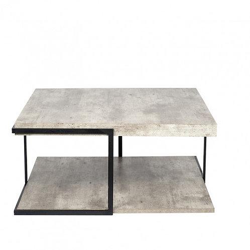Pacific concrete effect mdf & black iron coffee table