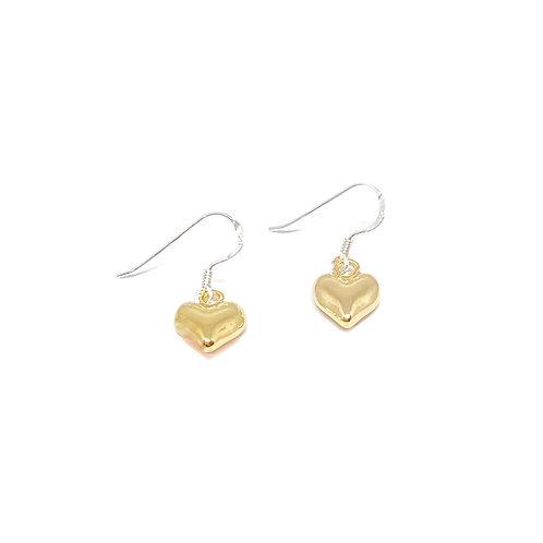 Catrina Heart Earrings - Gold