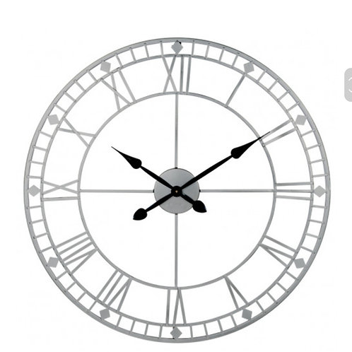 Large silver clock