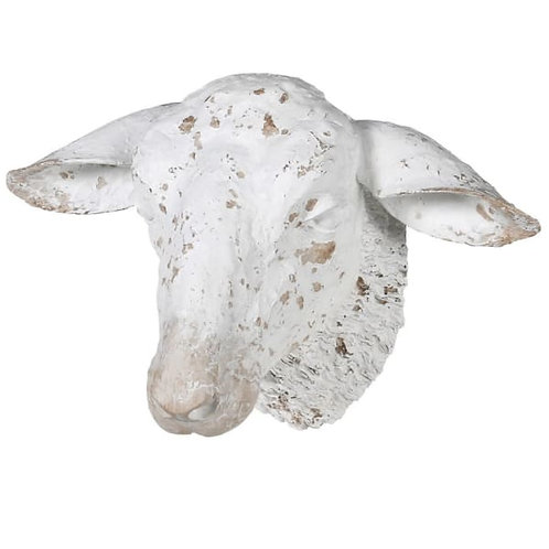 White decorative sheep head