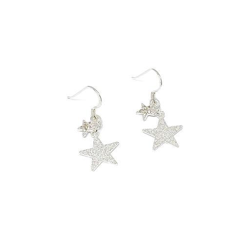 Paloma Sterling Silver Star Hook Earrings - Silver