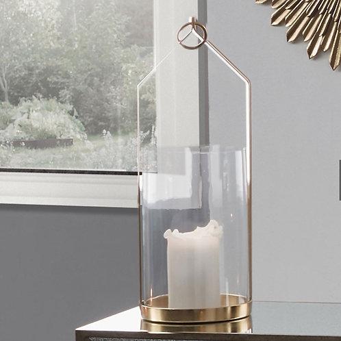 Pacific glass & brass large metal lantern