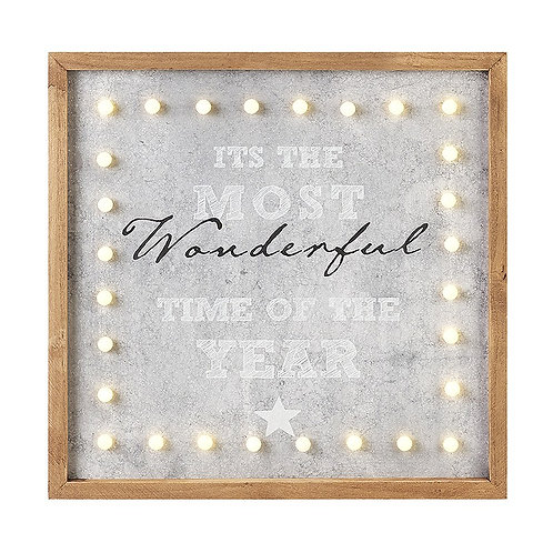 Most wonderful time -led wall hanging