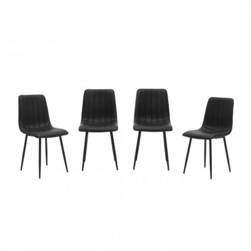 Set of 4 black chairs