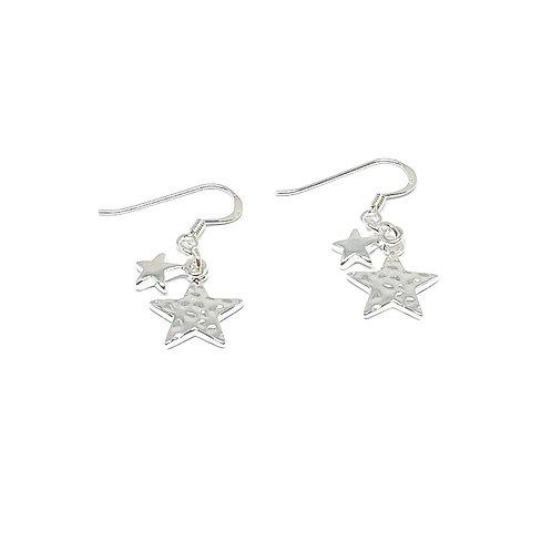 Poppy Sterling Silver Star Earrings - Silver