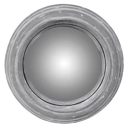 Small Distressed Round Mirror