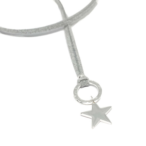 Helena silver star necklace