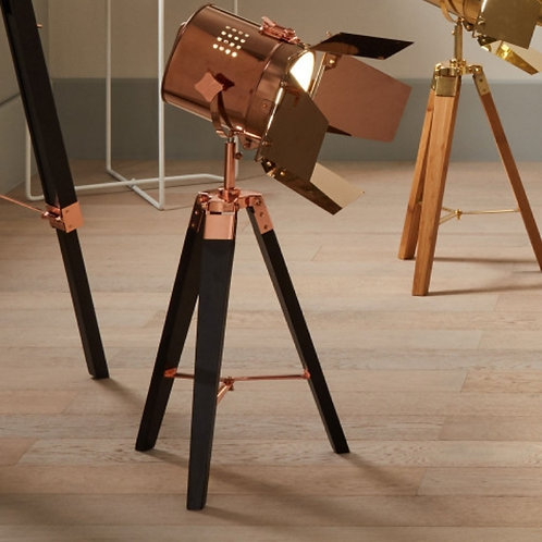 Hereford copper & black tripod table lamp by Pacific