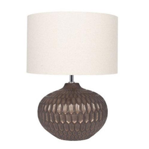 Cassius Bronze textured glazed ceramic table lamp