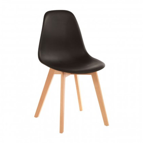 Nordic black chair