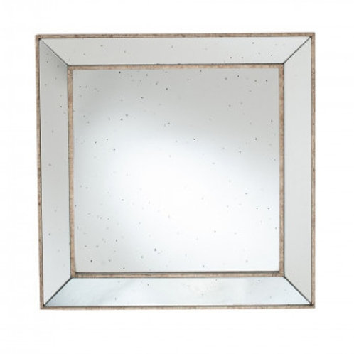Pacific foxed antique gold mirror