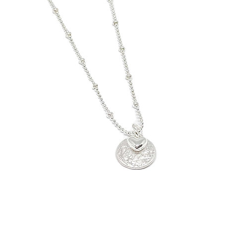 Erica disc necklace silver