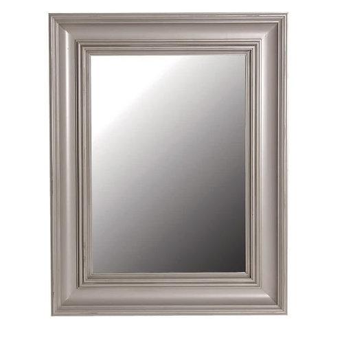 Distressed large grey mirror