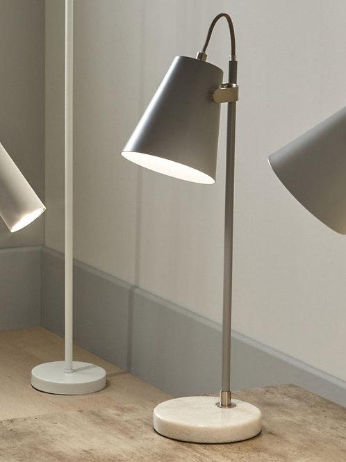 Pacific grey & satin nickel Theia task lamp