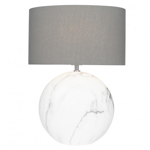 Large marble effect grey lamp