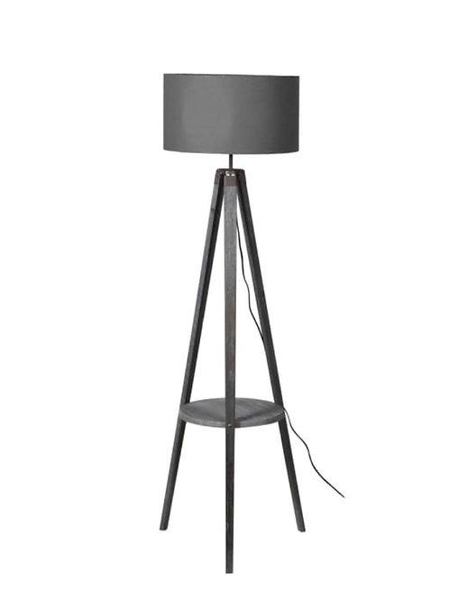 Grey shade floor lamp