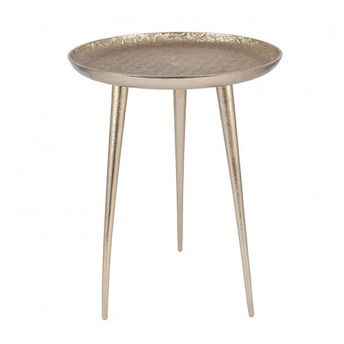 Pacific metal embossed tripod table