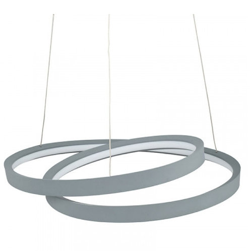 Neptune grey LED ring pendant light by Pacific