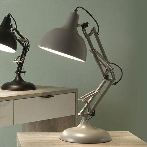 Pacific grey metal task table lamp