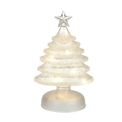 Large Light-Up Glass Xmas Tree
