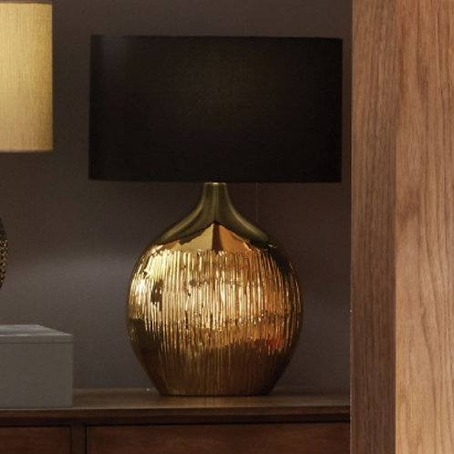 Pacific Gemini gold etched ceramic table lamp
