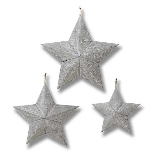 Grey wooden Star