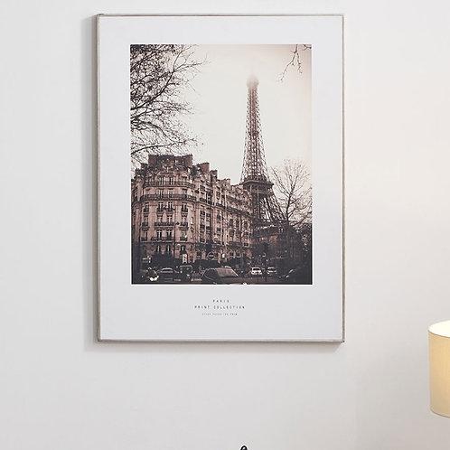 Pacific mono Paris print with silver frame