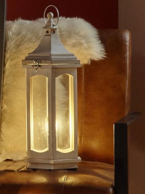 Pacific Adaline white was wood table lamp