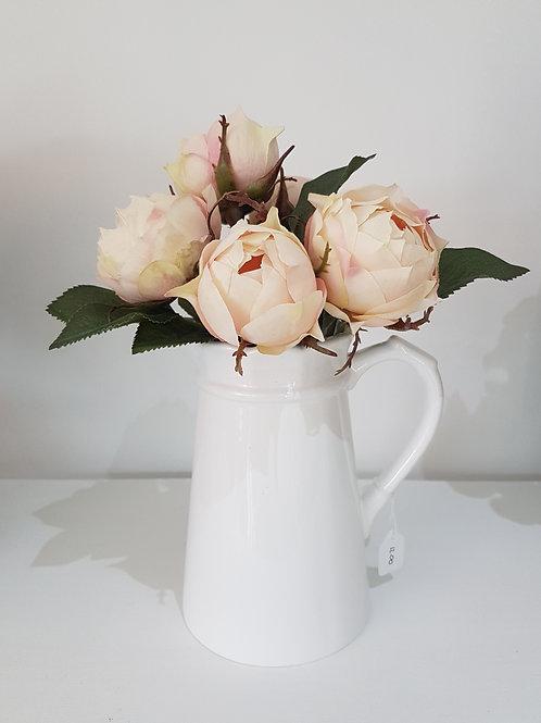 White frilled edge jug
