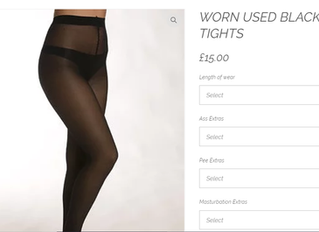 Buying Used Panties and Tights- Adding extras and customising your order