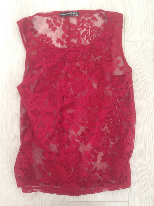 Sexy Red Lace Vest