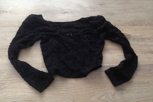 BLACK LACE CROP TOP (SK0515)