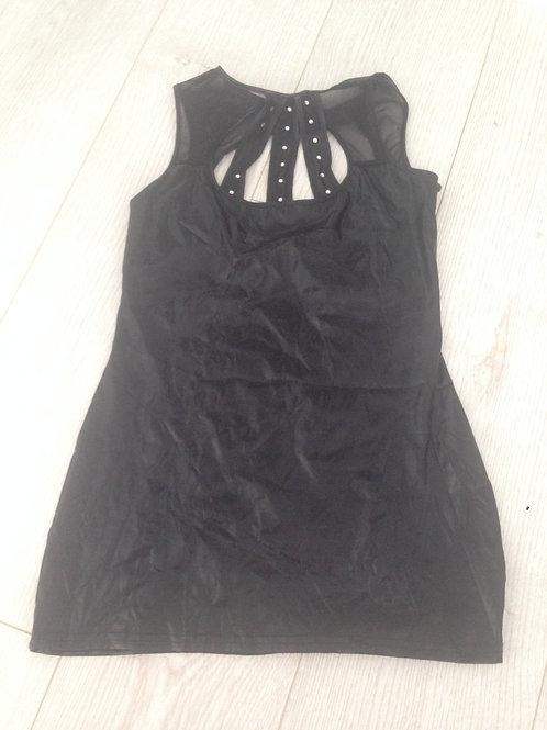 SEXY BLACK PVC MINI DRESS