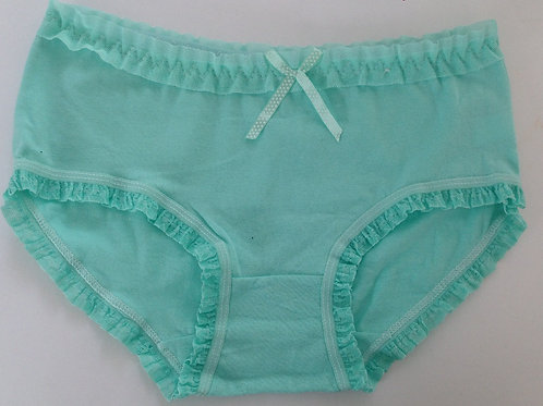 TURQUOISE FRILL COTTON USED PANTIES (SK0204)