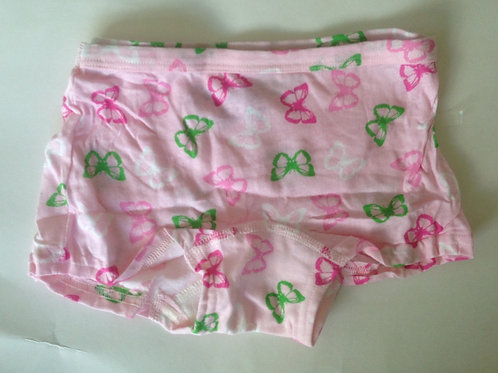 PINK BUTTERFLY PRINT COTTON BOYSHORTS USED PANTIES(SK0527)