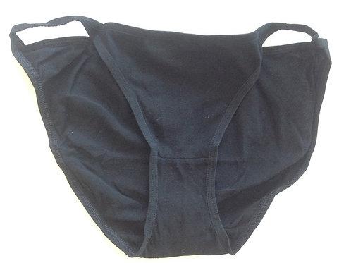 BLACK COTTON TANGA STYLE USED PANTIES (SK0581)