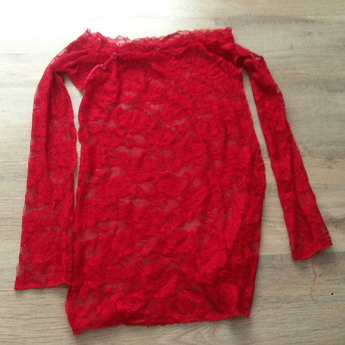 RED LACE DRESS (SK0518)