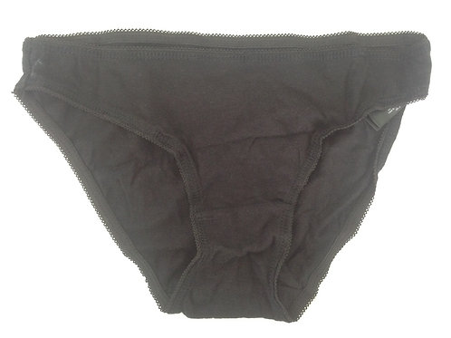 £10 discount used panties , black cotton full knickers from uk pantyseller misssmithxxx
