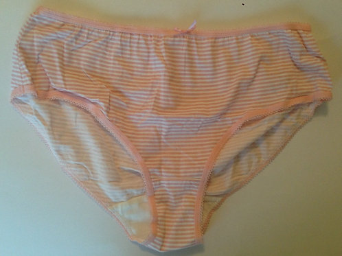 PINK AND WHITE STRIPE COTTON USED PANTIES (SKU0813)